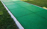 Резиновая плитка на дачном или садовом участке