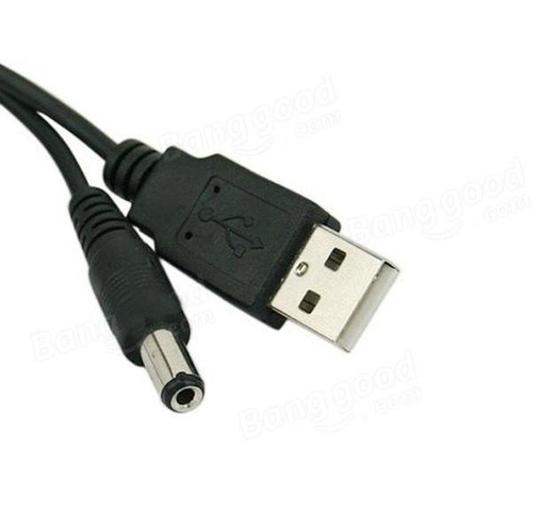 Кабель USB - 5,5 мм/2,1 мм DC