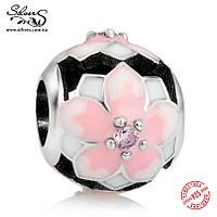 """Серебряная подвеска-шарм  Пандора (Pandora) """"Цветок магнолии"""" для браслета"""