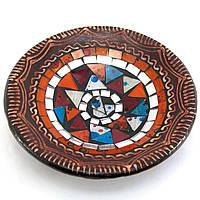 Блюдо терракотовое с мозаикой (d-14,5 см h-4,5 см)A