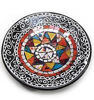 Блюдо терракотовое с мозаикой d- 20 h-4см (29385A)