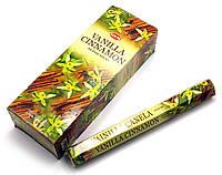 Благовония Vanilla Cinnamon Hem 20шт/уп. Аромапалочки Ваниль с корицей (27677)