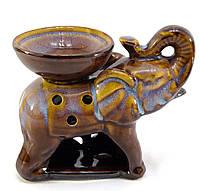 """Аромалампа """"Слон"""" коричневая (9х11,5х8 см)"""