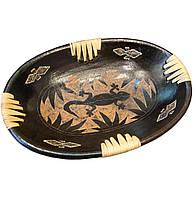 "Блюдо ""Саламандра"" терракотовое овальное (29,5х20х4,5 см)"