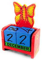 """Календарь настольный """"Бабочка"""" дерево 15х10х5см (30291)"""