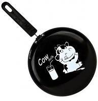 Сковорода блинная Granchio Cow milk черная Crepe 23 см.88271