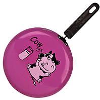 Сковорода блинная Granchio Cow milk розовая Crepe 23 см.88270