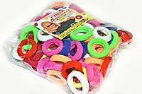 Детские резинки для волос разноцветные 100 шт