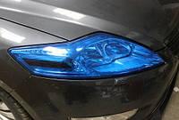 Пленка для тонировки фар синяя 100 х40 см