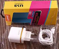 Зарядное устройство LDNiO A052. Адаптер+кабель Apple 1000mm 2.4A