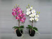 Штучна орхідея в горщику К15.006
