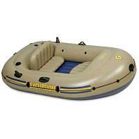 Лодка 2-местн. + весла, насос Intex 68318