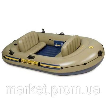 Лодка 3-местн. + весла, насос, сиденья Intex 68319