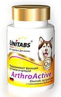 Юнитабс АртроАктив Unitabs Arthro Active с глюкозамином и МСМ для собак, 100 табл., Экопром