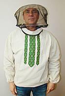 Куртка пчеловода бязь белая с маской р. 54-56