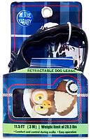 Поводок-рулетка для выгула собак с рисунком Птичка цветной 24-31, 5 м