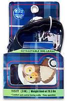 Поводок-рулетка для выгула собак с рисунком Птичка цветной 24-30, 3 м