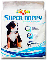 Пеленки для собак CaniAMici Super Nappy 60х60, 10 шт/уп, Италия