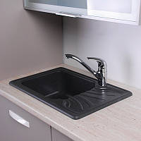 Гранитная мойка для кухни Fancy Marble Filadelfia 650x440x195 (Черный)