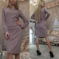 Облегающее платье футляр из красивой трикотажной ангоры
