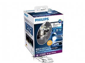 Светодиодный набор ламп Philips LED Ultinon, Цоколь H4, 6000K, 2шт/комплект