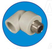 Колено с металл. резьбой наружной 3/4 ASG-plast d 32 мм