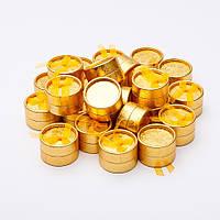 """Коробочка для украшений золотистая """"шайба"""" малая диаметр 5см"""