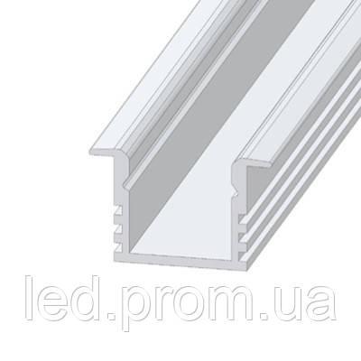 LED-профиль ЛПВ12 врезной анодированный