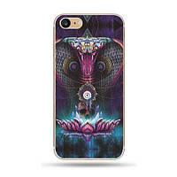 """Силиконовый чехол """"Космические животные"""" кобра для iPhone 7"""