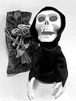 Оригинальный Сувенир Светящийся Скелет Повторюшка Прикол для Вечеринки