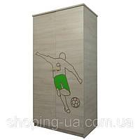 Детский шкаф гравированный зеленый Goll BABY BOO