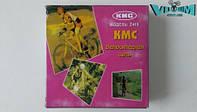 """Цепь велосипедная """"Kmc"""", Z410, с замком, коричневая, для дорожных велосипедов"""