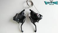 Ручки переключения (моноблок) ShimanoAlivio ST M410 3x8 (черные)