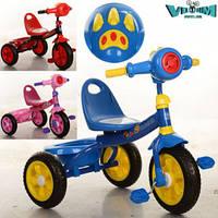 Детский трехколесный велосипед  Bambi M 3170-2 Синий с корзинкой и свето-музыкальными эффектами