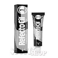 Краска для бровей и ресниц Refectocil №1 - темно-черная,15 мл