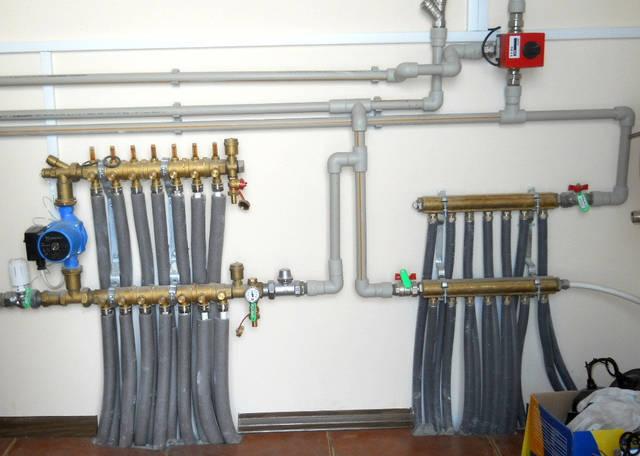 Коллекторная разводка на радиаторное отопление, теплый пол и горячее водоснабжение