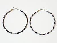 Серьги кольца металлические, цвет черный, D -6 см 2_6_135