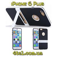 Чехол для IPhone 6 Plus, бампер с подставкой, Candy, черный