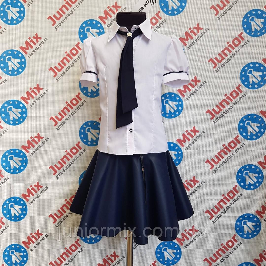 Школьная нарядная блузка с галстуком  на девочку  TERKO