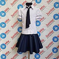 Школьная нарядная блузка с галстуком  на девочку  TERKO, фото 1