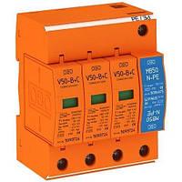 Комбинированный ОПН V50-B + C 3 + NPE, 3-полюсный + NPE. OBO. 5093654