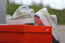 Летние женские кроссовки Nike air Force текстиль,белые с зеленым 39р, фото 2
