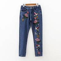 Стильные джинсы с вышивкой, фото 1