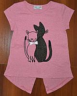 Стильная футболка для девочки (на 5 лет)