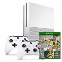 Microsoft Xbox One S 500GB + дополнительный джойстик + игра: FIFA 17 + 1м EA  Access