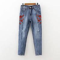 Модные джинсы с маками, фото 1