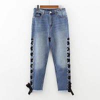 Синие джинсы на шнуровке, фото 1