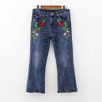Укороченные джинсы с вышивкой, фото 1