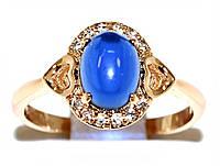 Кольцо  фирмы Xuping. Цвет: позолота.Камни: белый циркон и агат. Ширина кольца: 1 см. Есть  18 р.19 р.