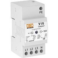Ограничитель перенапряжений V10 COMPACT 255, 3-полюсный + NPE. OBO. 5093380
